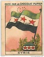 PU3    SYRIE  DRAPEAU...   7 X 5 Cm ASIE LIBAN ALLAOUIDES  Chocolat Café - Vieux Papiers