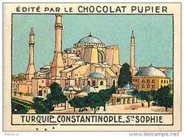 PU3    TURQUIE   CONSTANTINOPLE SOPHIE   7 X 5 Cm EUROPE ASIE ARCHITECTURE Chocolat Café - Vieux Papiers