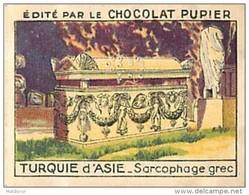 PU3    TURQUIE  D ' ASIE   Sarcophage  Grec  7 X 5 Cm EUROPE ARCHEOLOGIE Chocolat Café - Vieux Papiers