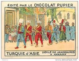 PU3    TURQUIE  D ' ASIE  ANKARA  JANISSAIRES  DEFILE 7 X 5 Cm EUROPE HISTOIRE Chocolat Café - Vieux Papiers