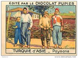 PU3    TURQUIE  D ' ASIE  PAYSANS  KEMAL A Interdit Le Port Du Fez Et Du Yachmek  EUROPE MODE 7 X 5 Cm Chocolat Café - Vieux Papiers