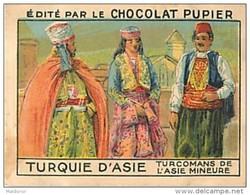 PU3    TURQUIE  D ' ASIE  TURCOMANS De L' ASIE MINEURE  MODE EUROPE 7 X 5 Cm Chocolat Café - Vieux Papiers
