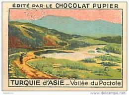 PU3    TURQUIE  D ' ASIE  VALLEE DU PACTOLE EUROPE (voir Histoire De CRESUS..)  7 X 5 Cm Chocolat Café - Vieux Papiers