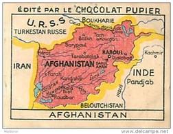 PU3   AFGHANISTAN  CARTE    7 X 5 Cm ASIE MAP  Chocolat Café - Vieux Papiers