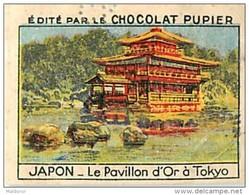 PU3   JAPON  TOKYO  PAVILLON      D ' OR KINKAKUJI JAPAN PACIFIC COREE ASIA ASIE 7 X 5 Cm Chocolat Tradecard - Vieux Papiers