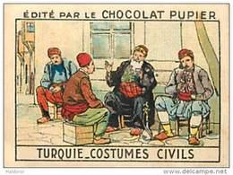 PU3   TURQUIE   HABITS  MODE  7 X 5 Cm EUROPE ASIE Chocolat Café - Vieux Papiers