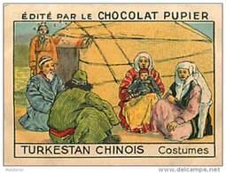 PU3  CHINE TURKESTAN  CHINOIS  XINJIANG  HABITS ASIE MODE 7 X 5 Cm  Chocolat Café - Vieux Papiers