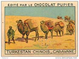 PU3  CHINE TURKESTAN  CHINOIS  XINJIANG CARAVANE ASIE  7 X 5 Cm Chocolat Café - Vieux Papiers