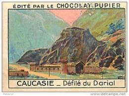 PU3  RUSSIE  CAUCASIE  DEFILE DU DARIAL ASIE    7 X 5 Cm Chocolat Café - Vieux Papiers