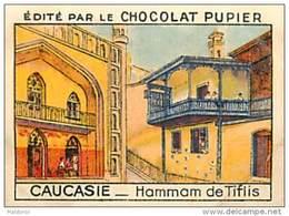 PU3  RUSSIE  CAUCASIE  TIFLIS  HAMMAM  ASIE    7 X 5 Cm ARCHITECTURE  Chocolat Café - Vieux Papiers
