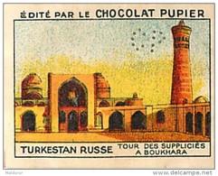 PU3  TURKESTAN  RUSSE  BOUKHARA  RUSSIE ASIE  TOUR DES SUPPLICIES  7 X 5 Cm Chocolat Café - Vieux Papiers