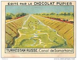 PU3  TURKESTAN  RUSSE  SAMARKAND  CANAL  7 X 5 Cm RUSSIE ASIE Chocolat Café - Vieux Papiers