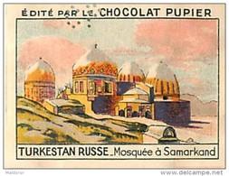 PU3  TURKESTAN  RUSSE  SAMARKAND  MOSQUEE RUSSIE ASIE  7 X 5 Cm Chocolat Café - Vieux Papiers