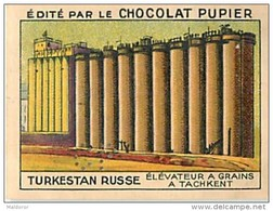 PU3  TURKESTAN  RUSSE  TACHKENT  ELEVATEUR A GRAINS    ASIE RUSSIE AGRICULTURE 7 X 5 Cm Chocolat Café - Vieux Papiers