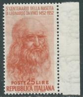 1952 ITALIA LEONARDO DA VINCI 25 LIRE MNH ** - RB9-2 - 1946-60: Nuovi