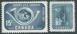 1957 CANADA UPU MH * MH * - RB11-2 - Nuovi