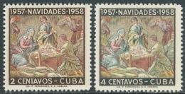 1957 CUBA NATALE 2 VALORI MNH ** - RB11-4 - Cuba