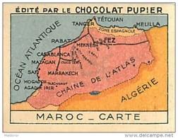 PU2        MAROC  CARTE  AFRICA AFRIQUE * 7- X 5+cm.. 900 Tradecards Chromos Sur ETHNOGRAPHIE ETHNOLOGIE - Chromo