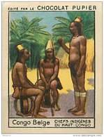 PU2   CONGO BELGE  CHEFS INDIGENES AFRICA AFRIQUE  . 7 X 5 Cm - Vieux Papiers