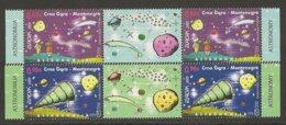 """MONTENEGRO / CRNA GORA - EUROPA 2009  - TEMA  """"ASTRONOMIA"""" - DOS SERIE De 2 V.  En INTERPANEL (GUTTER PAIR) - Europa-CEPT"""