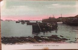 CPA, CASABLANCA, Le Port à Marée Basse, Photo Maillet, Non écrite - Casablanca