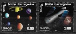 Bosnie Herzégovine 2009 N° 616/617 Neufs Europa Astronomie - Europa-CEPT