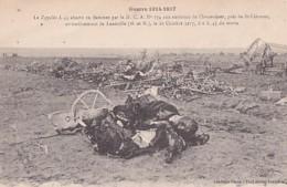 LE  ZEPPELIN L.44 ABATTU. AUX ENVIRONS DE CHENEVIERES..... - Guerra 1914-18