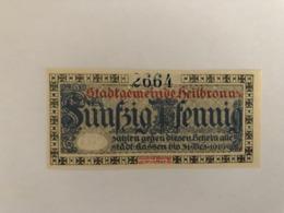 Allemagne Notgeld Heilbronn 50 Pfennig - Collezioni