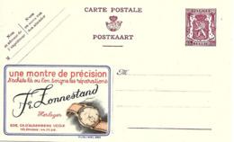 """"""" Lonnestand """" Horlogerie, Montre, Watch, Publicite Sur Entier Postal Illustre De Belgique, Publibel - Horloges"""