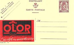 """"""" Olor """" Horlogerie, Montre, Watch, Publicite Sur Entier Postal Illustre De Belgique, Publibel - Horloges"""