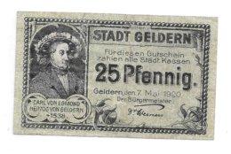 *notgeld  Geldern 25 Pfennig G5.3 Vf+ - [11] Local Banknote Issues