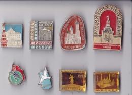 OLD PIN  --  LOT2  --  8 X PINS RUSSIA - Pin's & Anstecknadeln