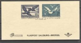 """Österreich 1950: Ganzsache """"Flugpost Adresszettel"""" Postfrisch ANK 100,--€ - 1945-.... 2nd Republic"""