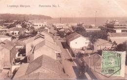 ALTE AK   LOURENCO  MARQUES - Maputo /  Mosamb.  - Panorama No. 1 -  1912 Gelaufen - Mozambique