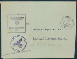 3rd Reich Germany Feldpost Cover Tanks Panzer Regt  3 55682 - Stamps