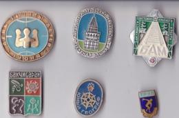 OLD PIN  --  LOT4  --  6 X PINS RUSSIA - Pin's & Anstecknadeln