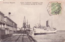 ALTE AK   LOURENCO  MARQUES - Maputo /  Mosamb.  - S.S. Lusitania Leaving  The Wharf -  1912 Gelaufen - Mozambique