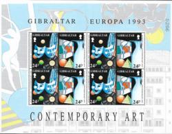 1993 Gibraltar  Mi. 854-7 **MNH  Europa: Zeitgenössische Kunst. - Europa-CEPT