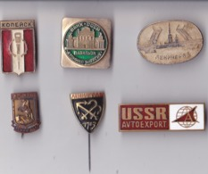 OLD PIN  --  LOT5  --  6 X PINS RUSSIA - Pin's & Anstecknadeln