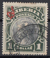 Liberia 1906 Sc. O56 Official Stamps - Head Of Liberty - Used Red Overprint - Liberia