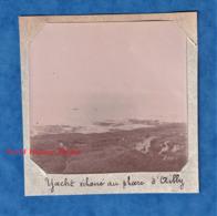 Photo Ancienne - Yacht échoué Au Phare D' AILLY - Vers 1900 - Sainte Marguerite Sur Mer Dieppe Seine Maritime Bateau - Photos