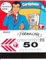 HONG KONG - Calling To China, Hong Kong Telecom Telecard $50(letter D, Small CN, 0 With Barred), Used - Hongkong