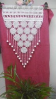 Une Paire De Rideaux Au Crochet.en Coton Blanc. - Drapery