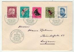 Suisse//Schweiz//Svizerra // Switzerland // Pro-Juventute // 1953 // Lettre Pour Luzerne Avec Oblitération 1er Jour - Pro Juventute