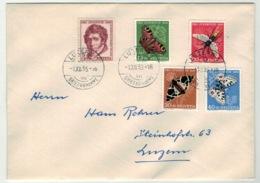 Suisse//Schweiz//Svizerra // Switzerland // Pro-Juventute // 1955 // Lettre Pour Luzerne Avec Oblitération 1er Jour - Pro Juventute