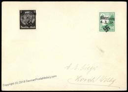 3rd Reich Germany Abertham Sudetenland 1938 Annexation Provisional Cover 70147 - Postzegels