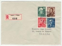 Suisse//Schweiz//Svizerra // Switzerland // Pro-Juventute // 1942 // Lettre Recommandée Genève, Journée Du Timbre 1942 - Pro Juventute