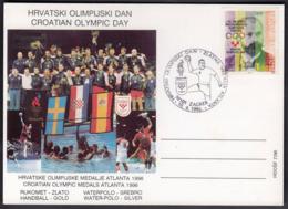 Croatia Zagreb 1996 / Croatian Olympic Day / Croatian Olympic Medals Atlanta 1996 / Handball - Handball