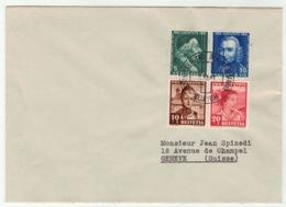 Suisse//Schweiz//Svizerra // Switzerland // Pro-Juventute // 1941 // Lettre Pour Genève, Journée Du Timbre 1941 - Pro Juventute
