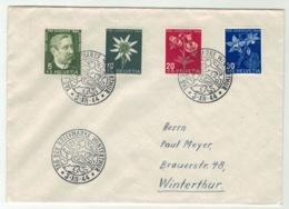 Suisse//Schweiz//Svizerra // Switzerland // Pro-Juventute // 1944 // Lettre Pour Winterthur, Journée Du Timbre 1944 - Pro Juventute